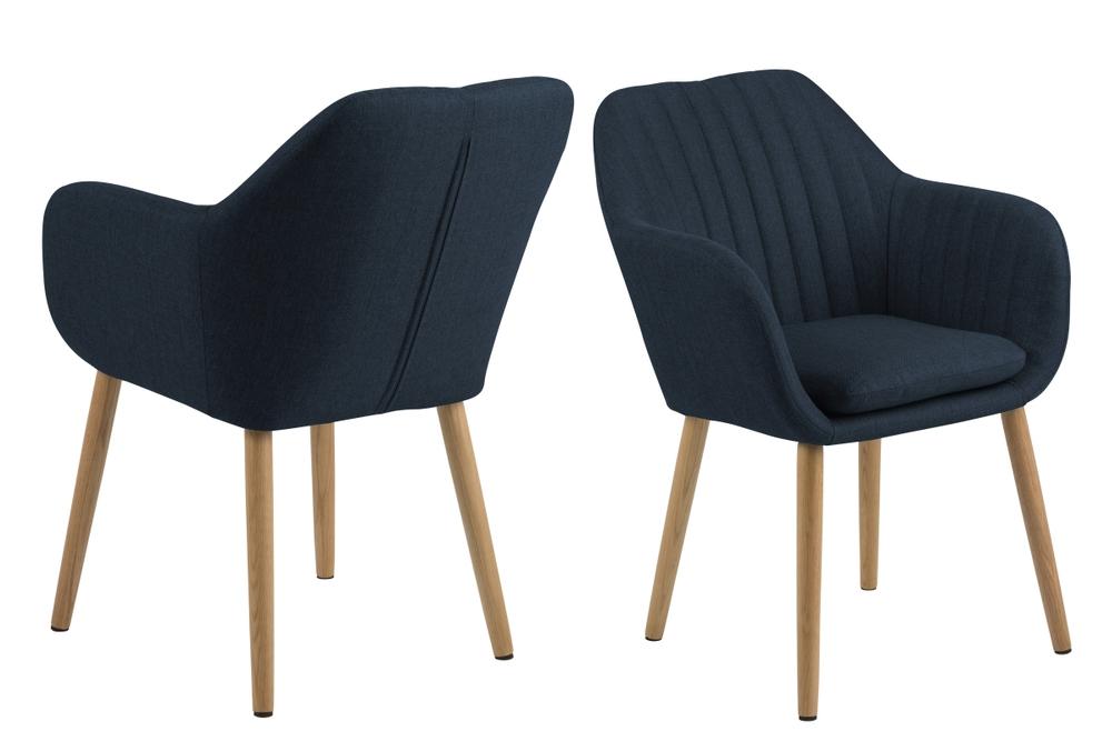 Levně Dkton Designové židle Nashira tmavě modrá 2