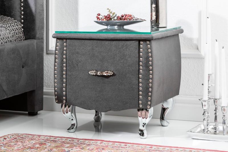 LuxD Noční stolek Spectacular, 45 cm, šedý
