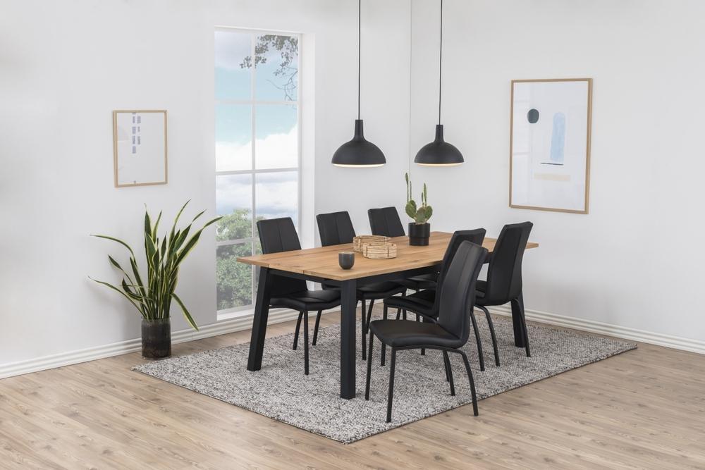 Dkton Jídelní stůl Nadida 200 cm Dýhové desky