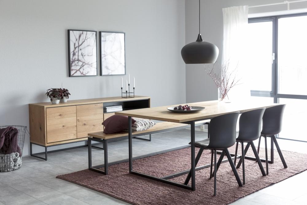 Dkton Jídelní stůl Nadira 160 cm divoký dub