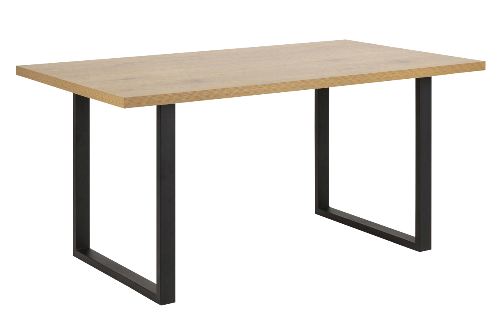 Dkton Jídelní stůl Niki 160 cm divoký dub U nohy