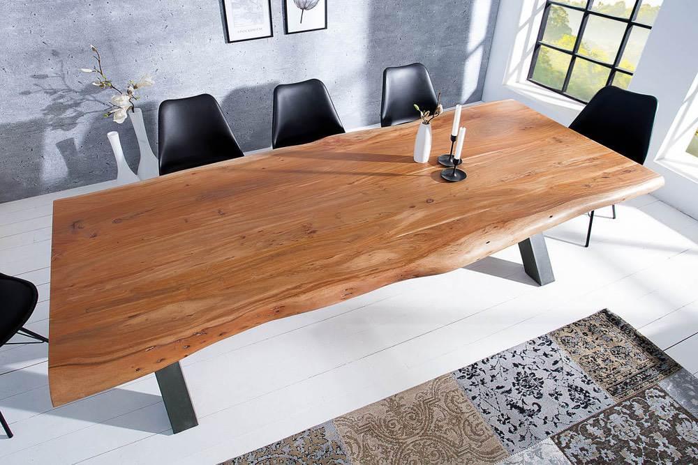 Jídelní stůl Massive X Honey 240 cm - tloušťka 60 mm - akácie - Skladem na SK (RP)