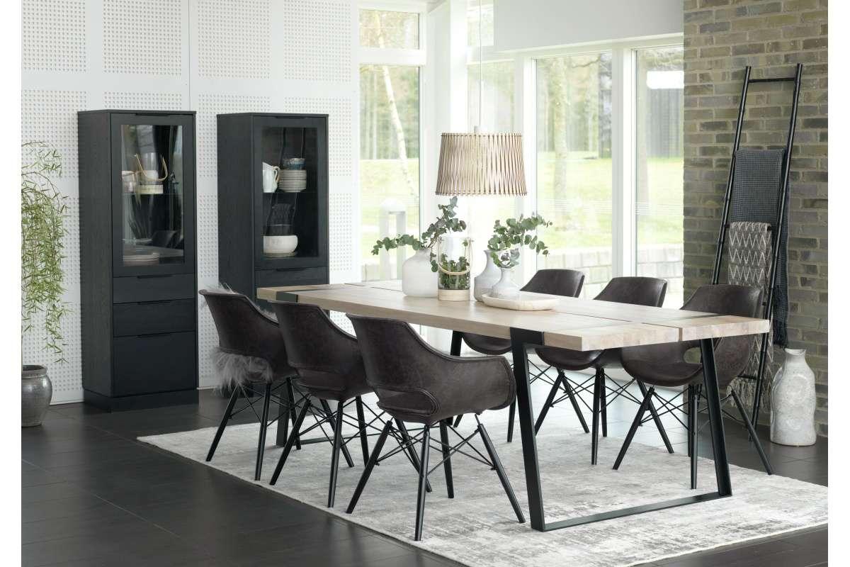 Jídelní židle Amir šedo-černá