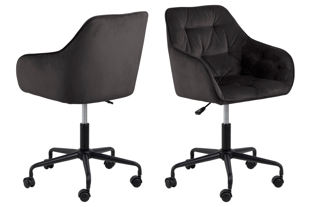 Dkton Kancelářská židle Alarik šedá