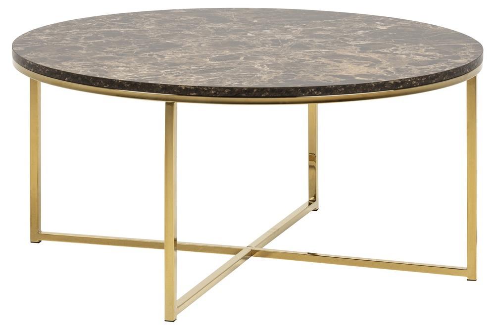 Konferenční stolek Agostino hnědá / zlatá chromová - II. třída (RP)