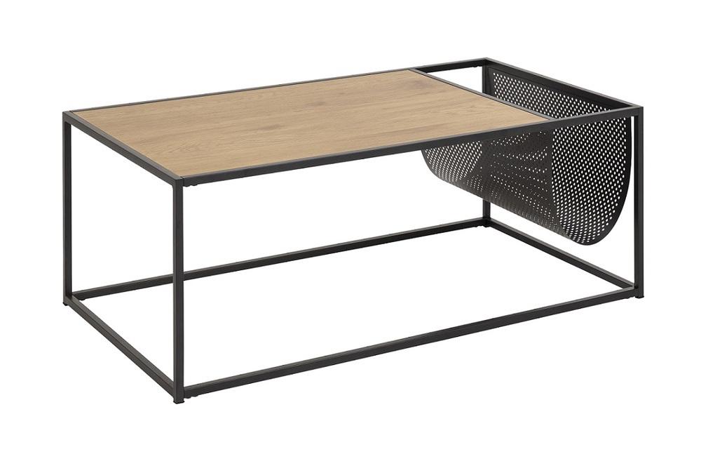 Dkton Konferenční stolek s držákem Akello imitace divoký dub
