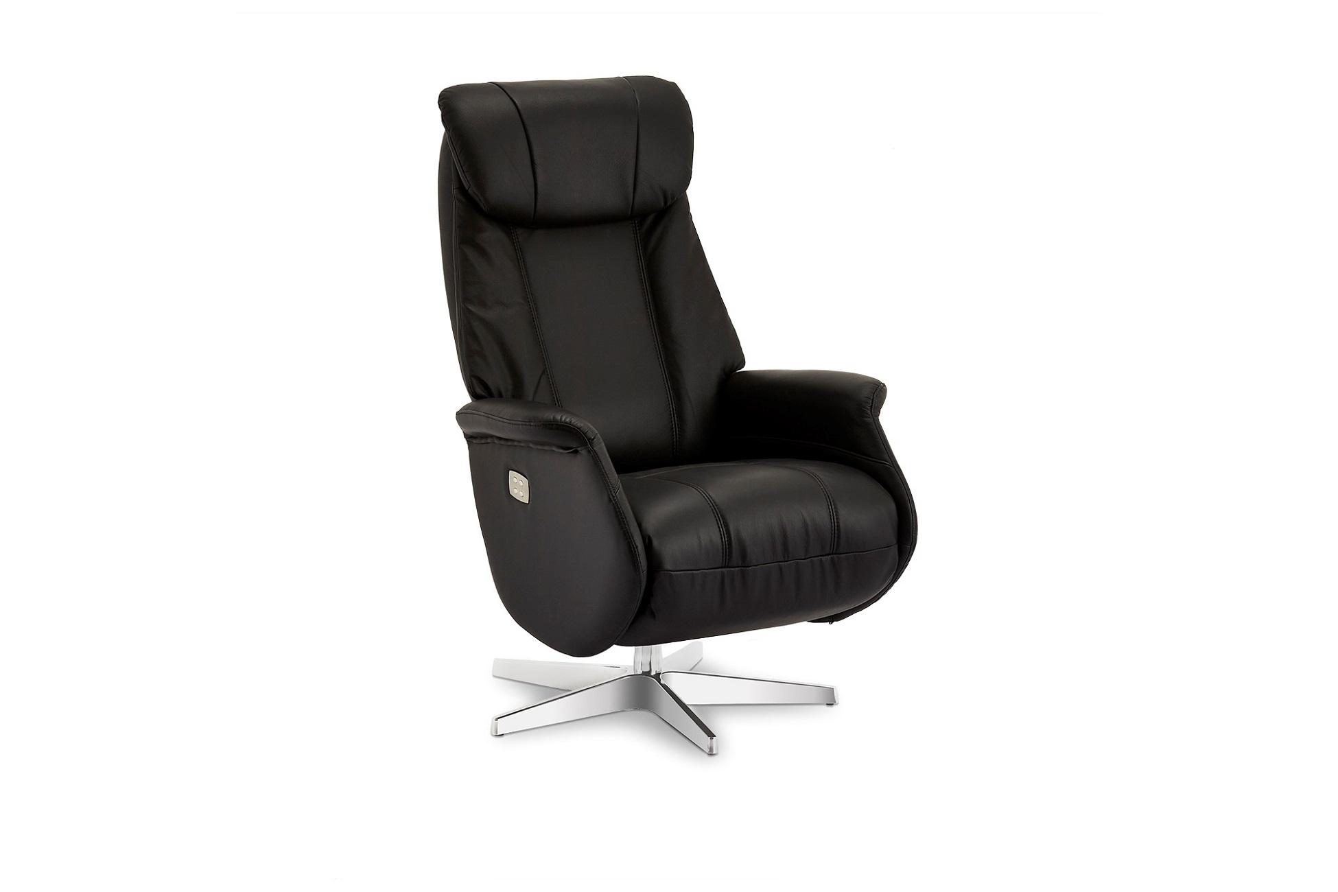 Furnistore Luxusní relaxační křeslo Abdirahman, černé