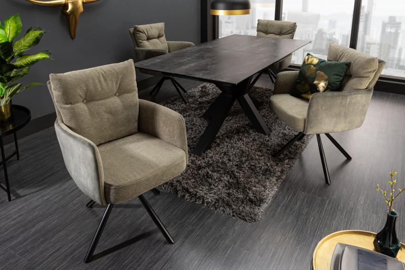 Levně LuxD Designová otočná židle Maddison zelená