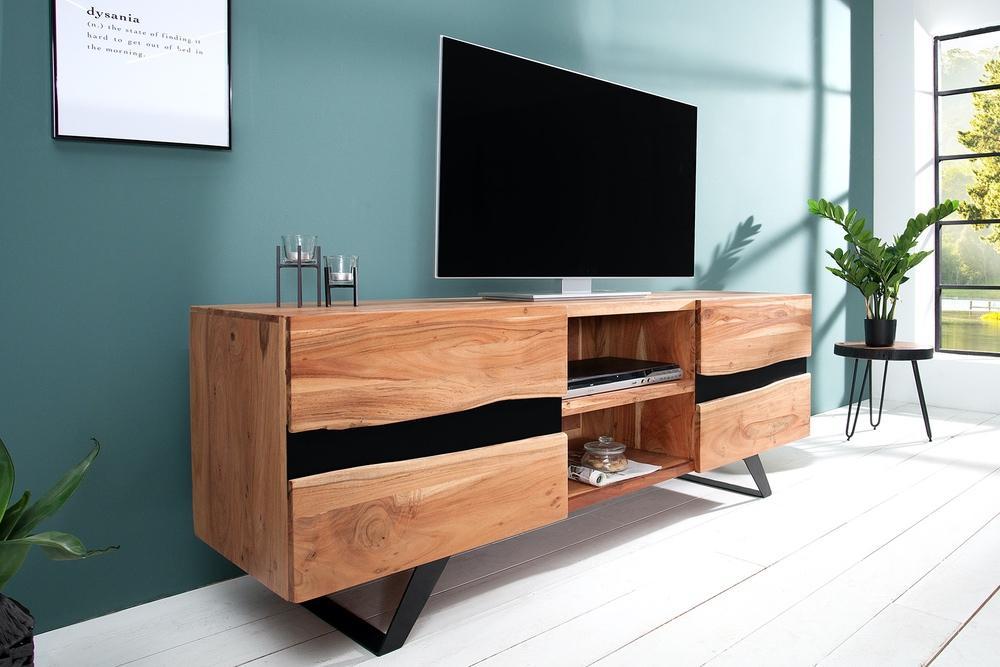 LuxD Luxusní TV stolek Argentinas z masivu