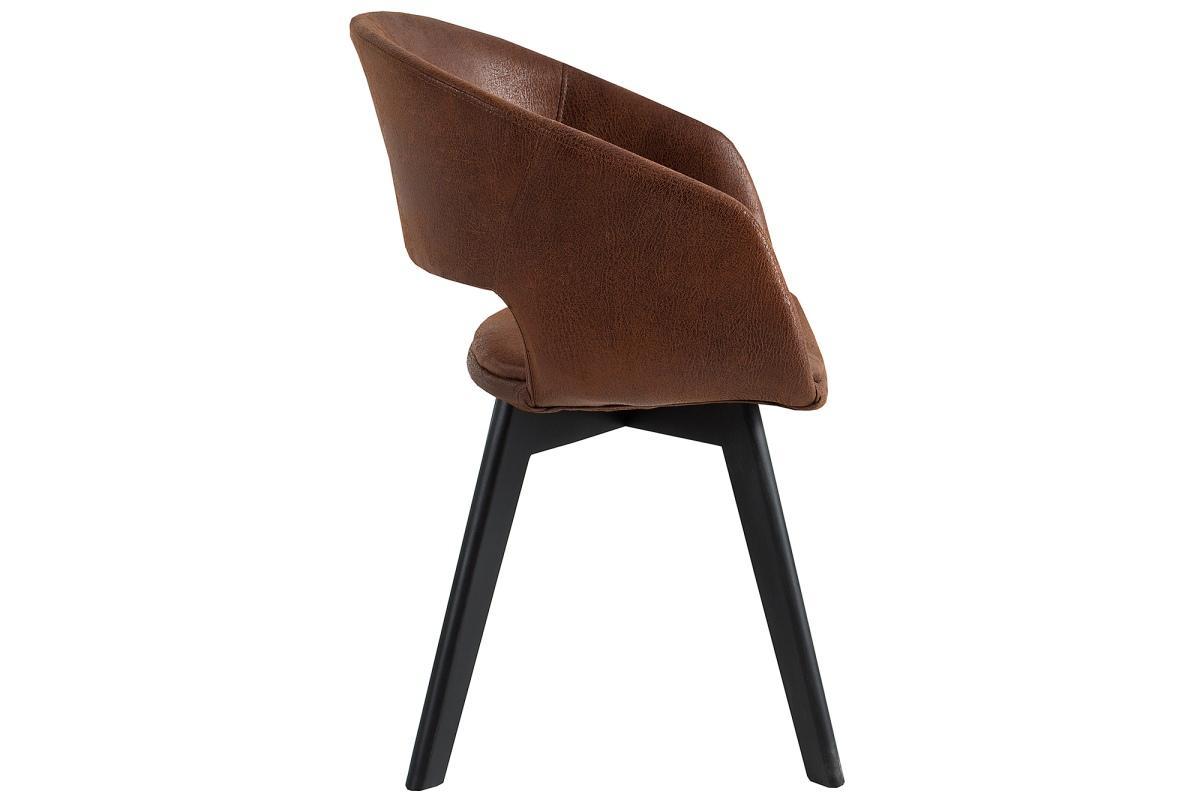 Designová židle Colby antik hnědá