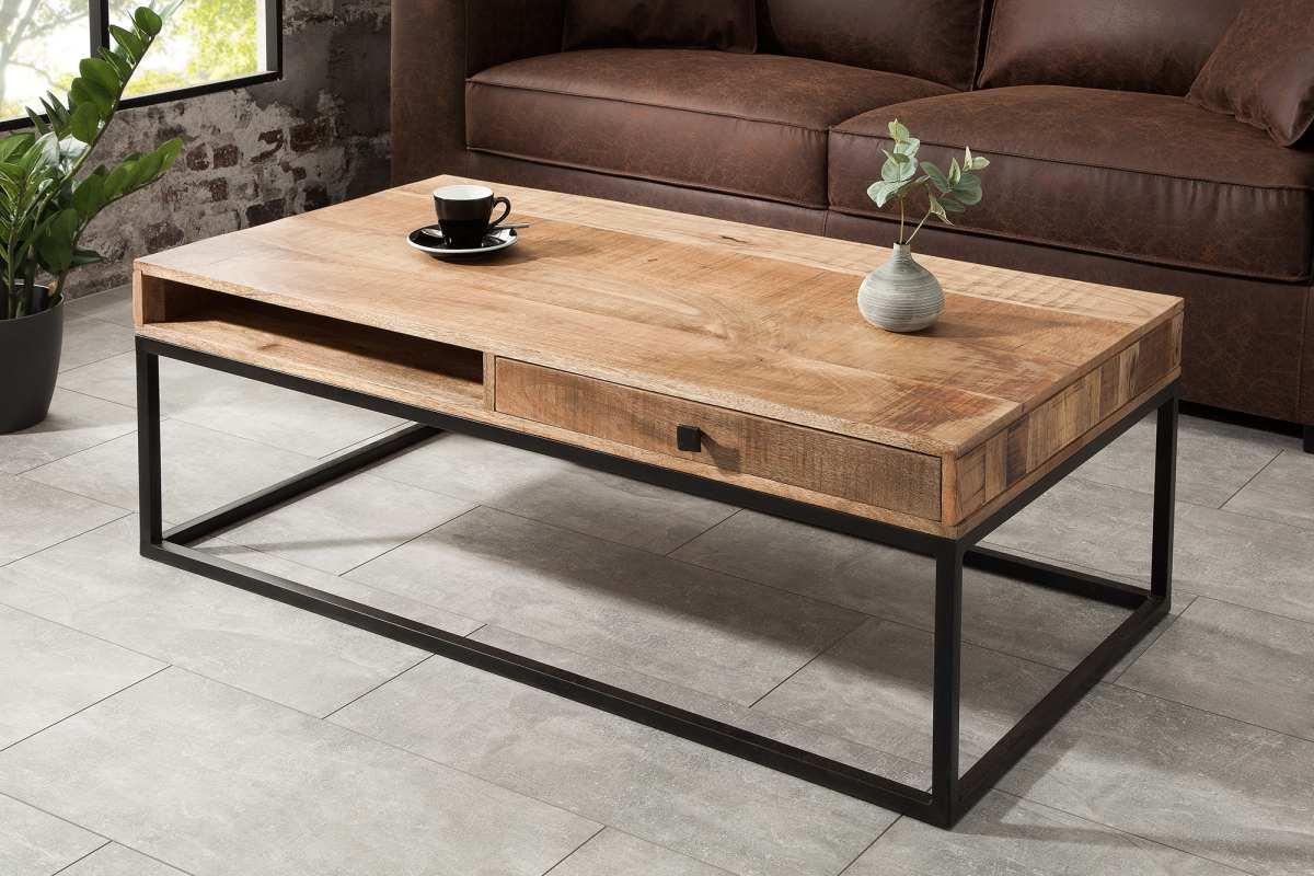 Konferenční stolek se zásuvkou Thunder 115 cm mango - II. Třída