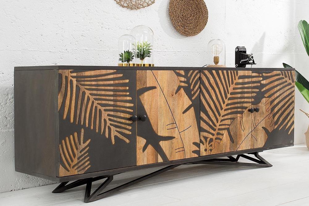 LuxD Designová komoda Leland 175 cm mango