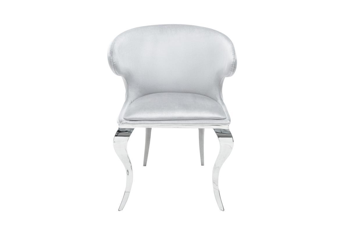 Designová židle Rococo II šedý samet - II. třída