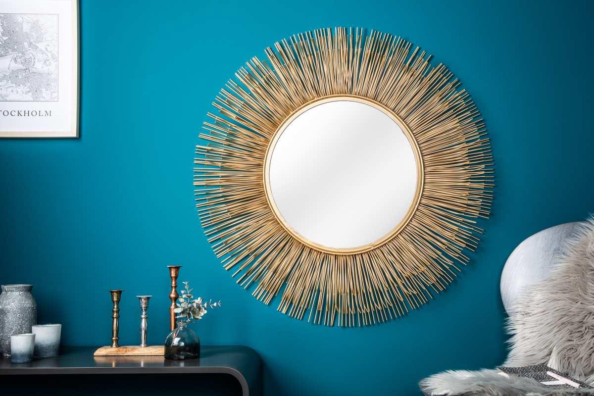Designové zrcadlo Abram L, zlaté