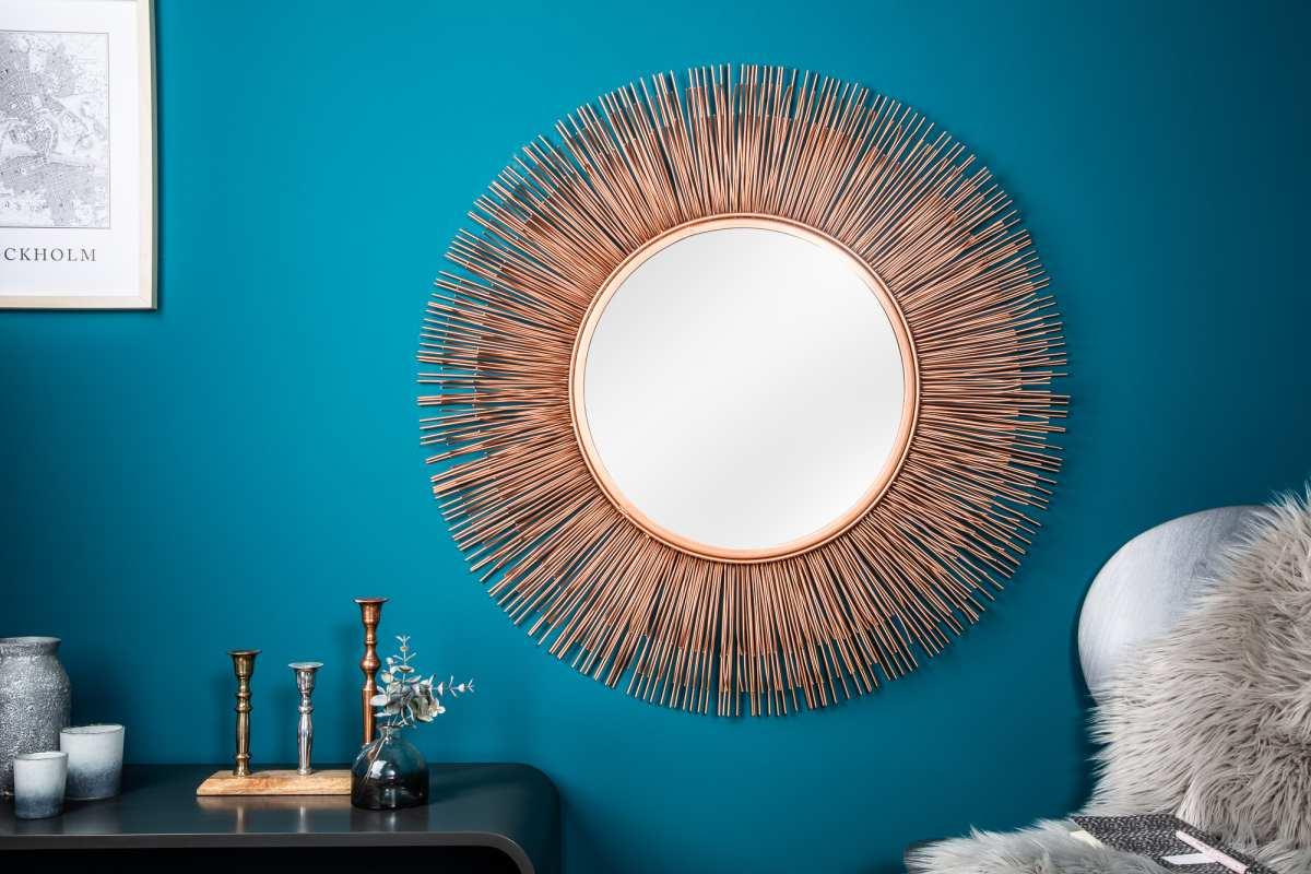 Designové zrcadlo Abram L, měděné