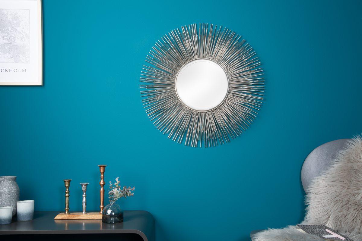 Designové zrcadlo Abram M, stříbrné