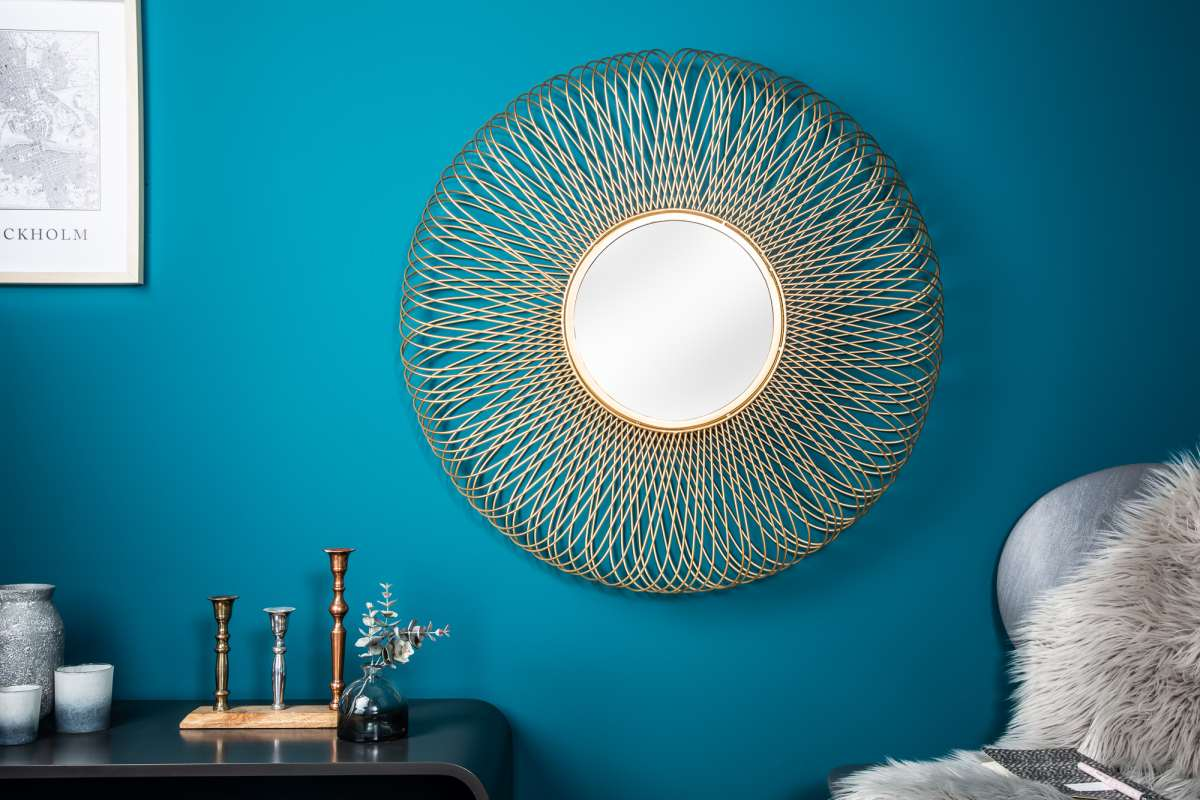 Designové zrcadlo Cayley L, zlaté
