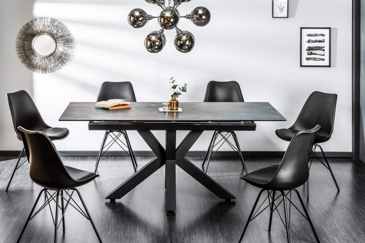 LuxD Designový jídelní stůl Zariah, 180-225 cm, láva