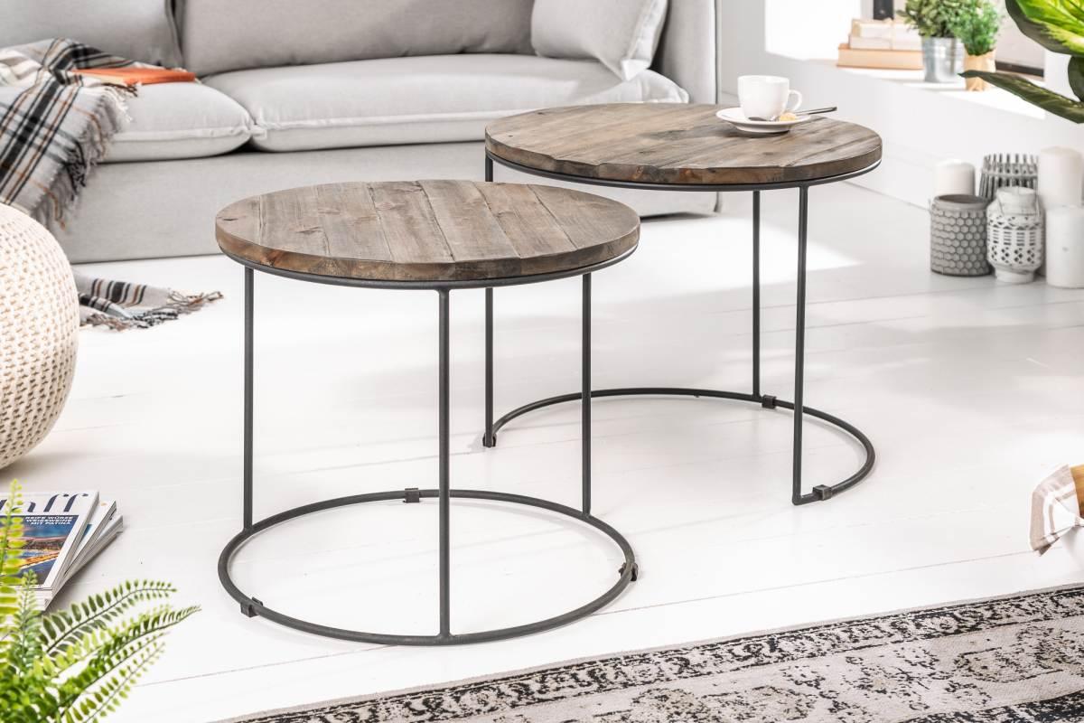 LuxD Odkládací stolek Owen, set 2ks, akácie