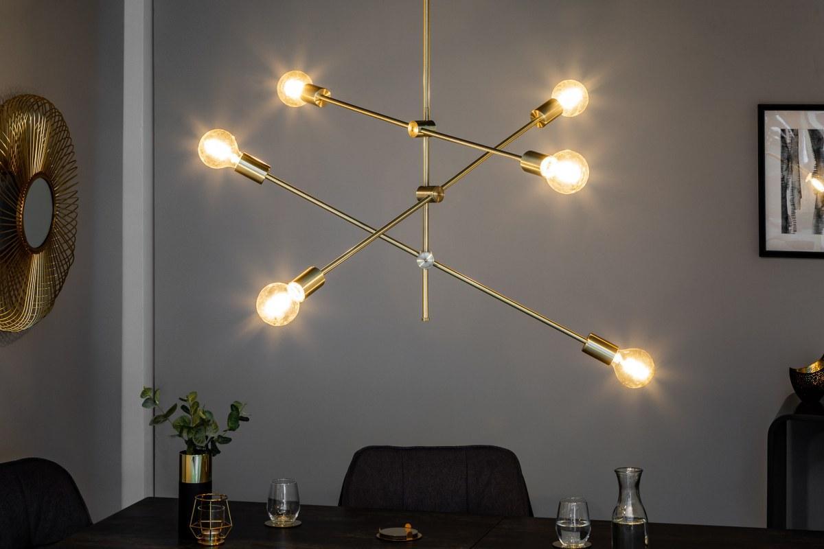 Levně LuxD 21216 Designové závěsné svítidlo Walter, zlaté závěsné svítidlo