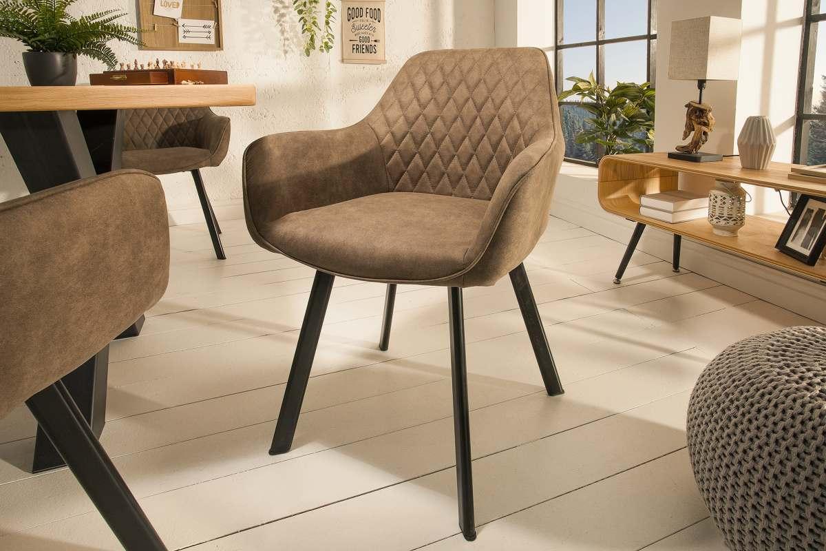 LuxD Designová židle Francesca, šedohnědá taupe - II. třída