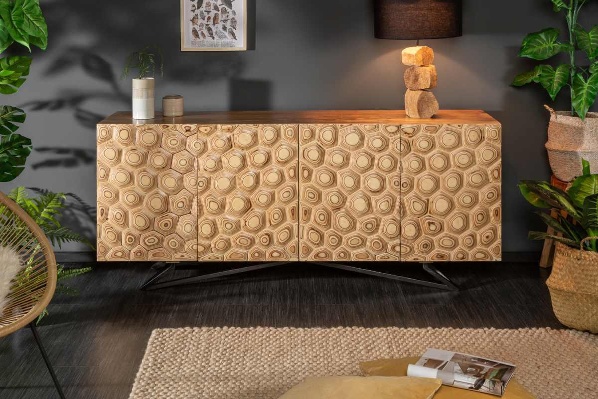 LuxD Designová komoda Lorelei, 175 cm, mango