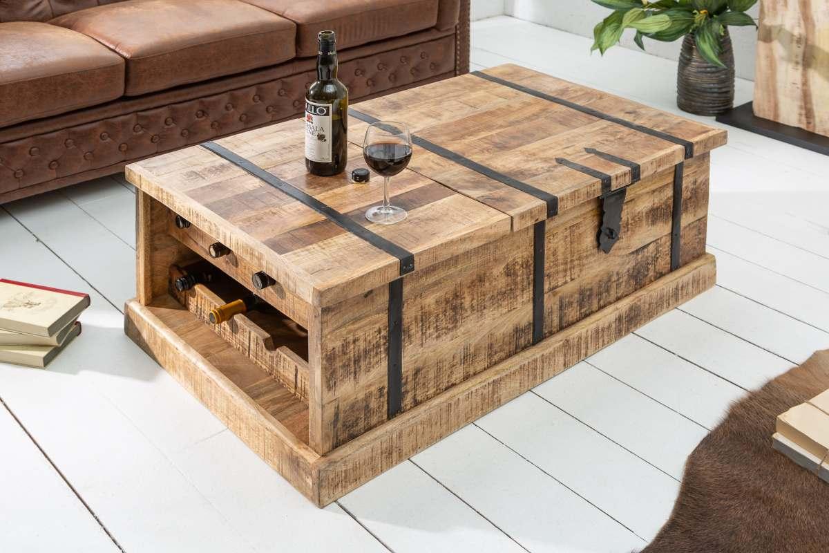 LuxD Luxusní konferenční stolek Winebar, 100 cm, mango - II. třída