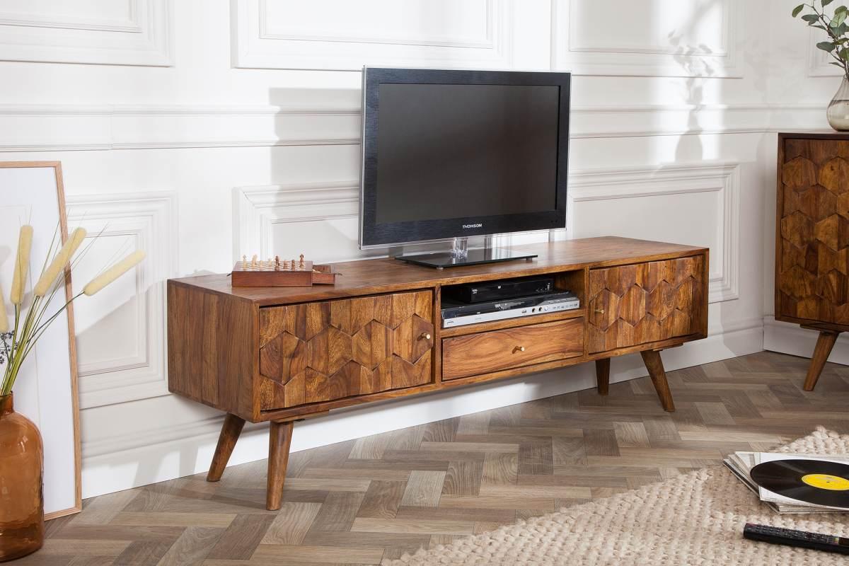 LuxD Designový TV stolek Justice, 140 cm, sheesham