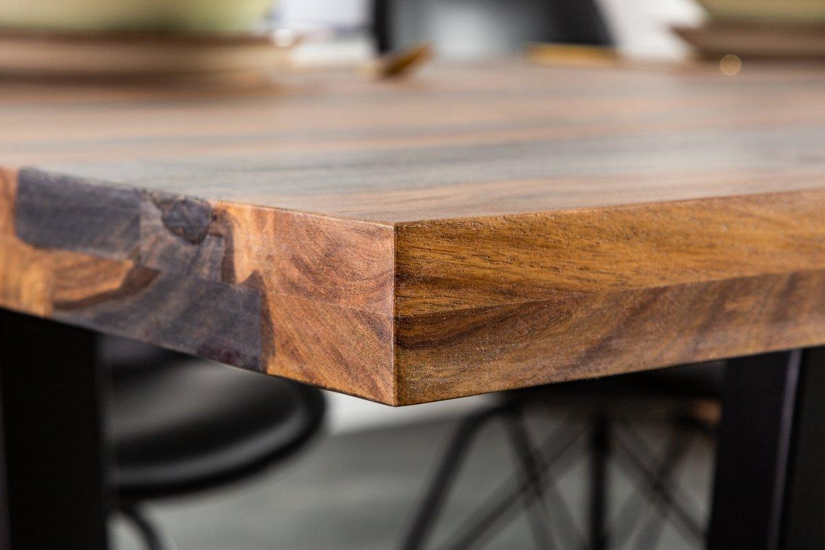 Designový jídelní stůl Flame, 200 cm, sheesham šedý