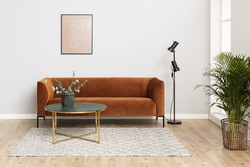 Kulatý konferenční stolek Agostino zelená - otevřené balení