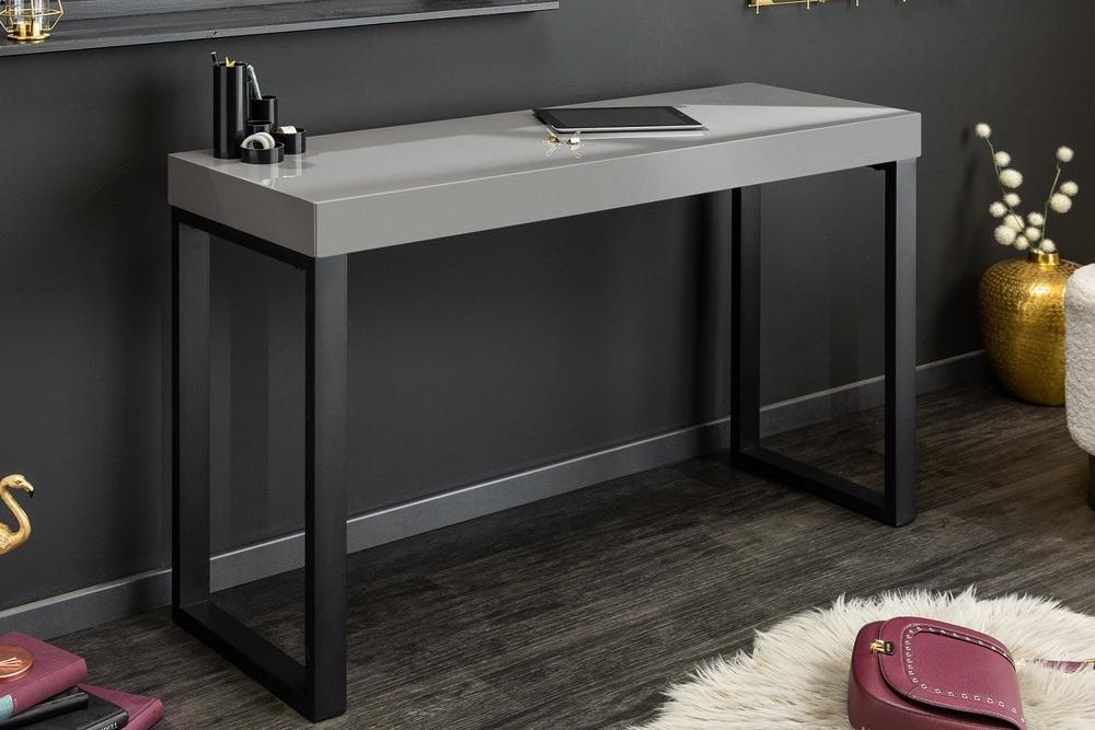 LuxD Psací stůl Office 120 x 40 cm šedý