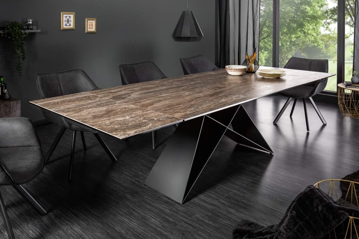 LuxD Rozkládací jídelní stůl Brock rez 180-260 cm