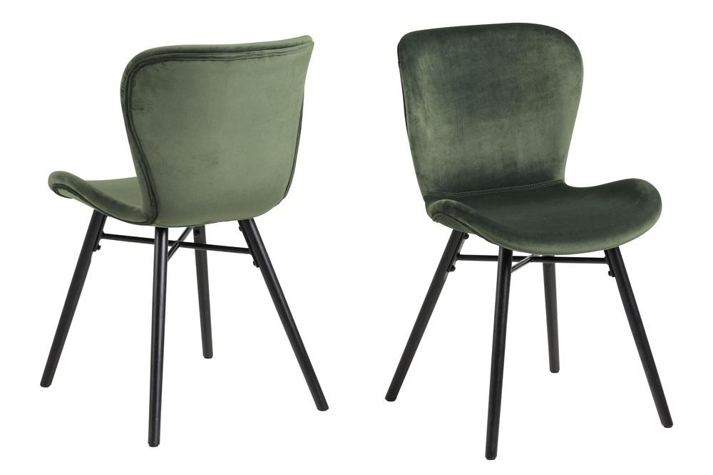 Dkton Stylová jídelní židle Alejo lesnická zelená