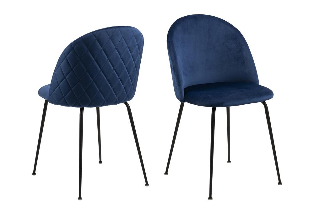 Dkton Stylová jídelní židle Alexandre tmavě modrá